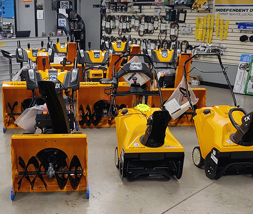 2021 Cub Cadet snowblowers in stock